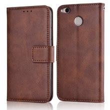 Xiomi redmi 4x capa fina de couro, capa estilo carteira com suporte magnético para xiaomi redmi 4x 4 x capa redmi 4x