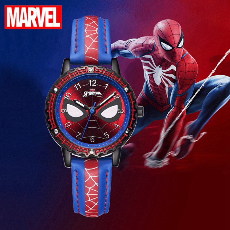 Cool Spider Man Super Kid Children Watches Soft Strap Quartz Watch Fashion Sport Kids Clock Boy Birthday Gift Child MARVEL Hero