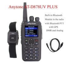 Anytone AT D878UV PLUS cyfrowy DMR i analogowe walkie talkie z GPS APRS bluetooth PTT dwuzakresowy Two way radio z kabel PC