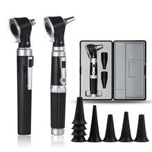 Professionelle Otoscopio Diagnose-Kit Medizinische Hause Arzt ENT Ohr Pflege Endoskop LED Tragbare Otoskop Ohr Reiniger mit 8 Tipps