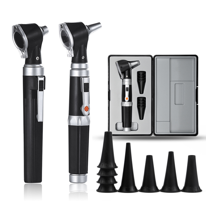 Professional Otoscopio Diagnostic Kit Medical Home Doctor ENT Ear Care Endoscope LED Portable Otoscope Ear Cleaner with 8 Tips