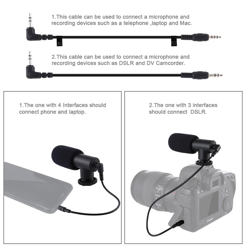 PULUZ 4 en 1 vlog diffusion en direct appareil vidéo pour Smartphone + 4.6 pouces anneau LED lumière vidéo et Microphone + montage sur trépied + tête de trépied - 6