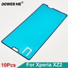 Dower Me 10 Pcs/Lot pour SONY Xperia XZ2 H8216 H8266 H8296 SOV37 LCD cadre avant autocollant colle adhésive