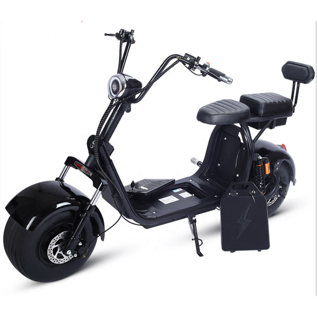 EEC COC Certified Street Legal Electric Vehicles Motorcycle 60V 20ah 2 Seats Adult Used Big Fat Tire Electric Citycoco Scooter 6