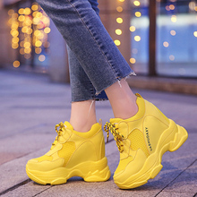 Lucyever Autumn Winter Women Ankle Boots Fashion Candy Color High Top Platform Shoes Woman Height Increasing Sneakers Creeper