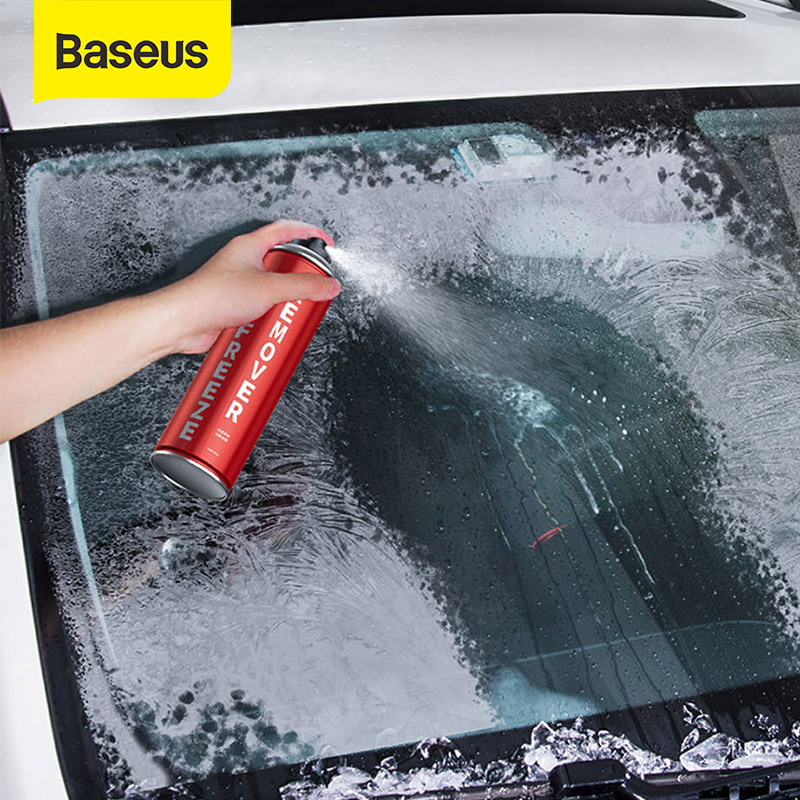 Baseus 550ML Car Snow Deicing Agent Melts Ice Snow Removal Agent Auto Car Windows Windshield Car Ice Scraper Removal Spray