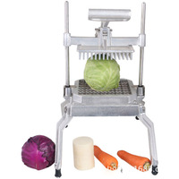 Multi function Vegetable Fruit Cutter Manual Lettuce Cutting Dicing Machine Stainless Steel Dicer Food Commercial Processor