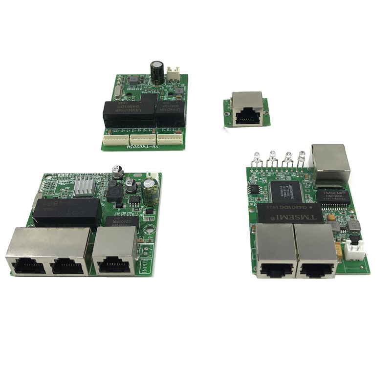 3-port Gigabit Switch Module Is Widely Used In LED Line 3 Port 10/100/1000 M Contact Port Mini Switch Module PCBA Motherboard