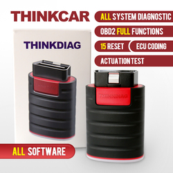 Thinkcar ThinkDiag All System Diagnostic Tool 15 Reset Services OBD2 Full Functions All Free Softwares Car Code Reader Scanner