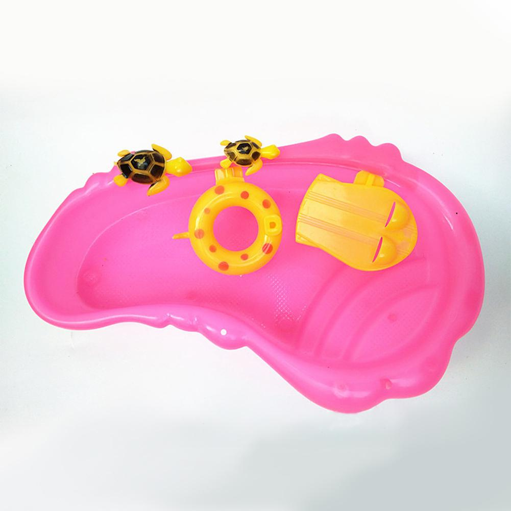 Kuulee Cute Turtle Swimming Pool Kids Dollhouse Miniature Play-house Toy Gift Decoration