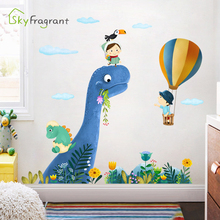 Cartoon wall sticker kids room decoration bedroom bedside wall decor cute dinosaur animal stickers home decor boys room decor cheap Plane Wall Sticker For Tile For Wall Furniture Stickers Window Stickers Single-piece Package Wallpaper 60*90cm About 95*103cm