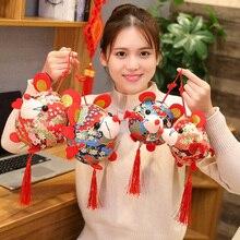 Год жира талисман Крысы Плюшевые игрушки красный китайский узел подвеска мышь Высокое качество Висячие Deacoration подарок на год для детей
