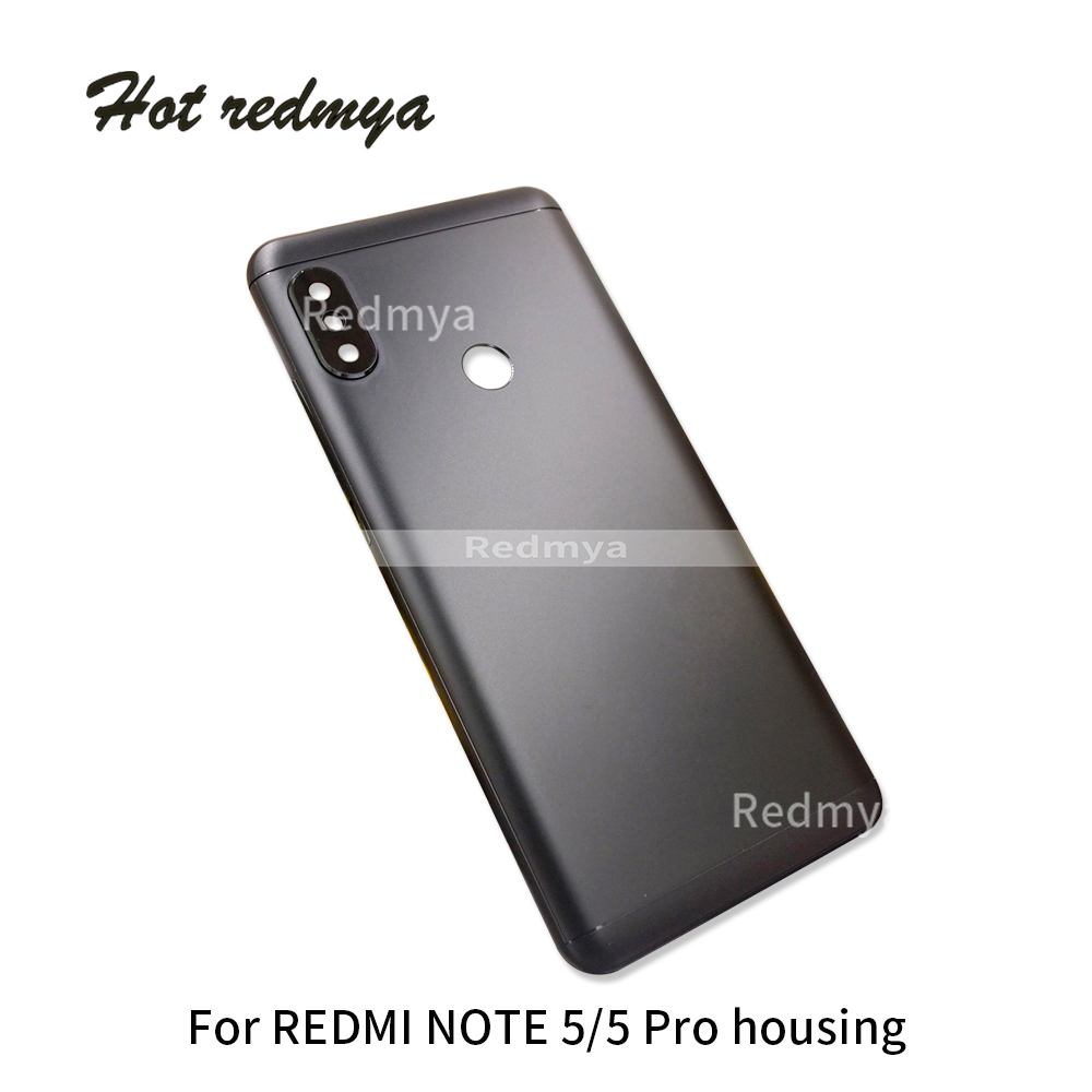 Housing For Xiaomi Redmi Note 5 Metal Battery Back Cover Replacement Parts Case With Side Button Camear Lens|Mobile Phone Housings & Frames| |  - title=