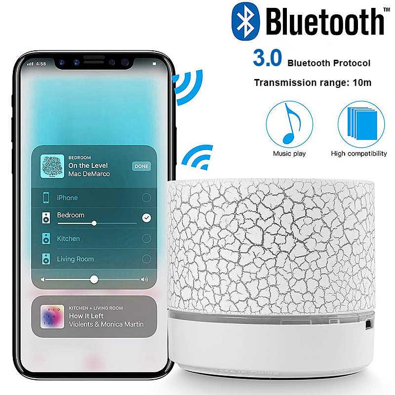 A9 Bluetooth スピーカーミニワイヤレススピーカー LED ポータブルワイヤレス低音スピーカーと mp3 ステレオオーディオ TF カード USB 音楽プレーヤー