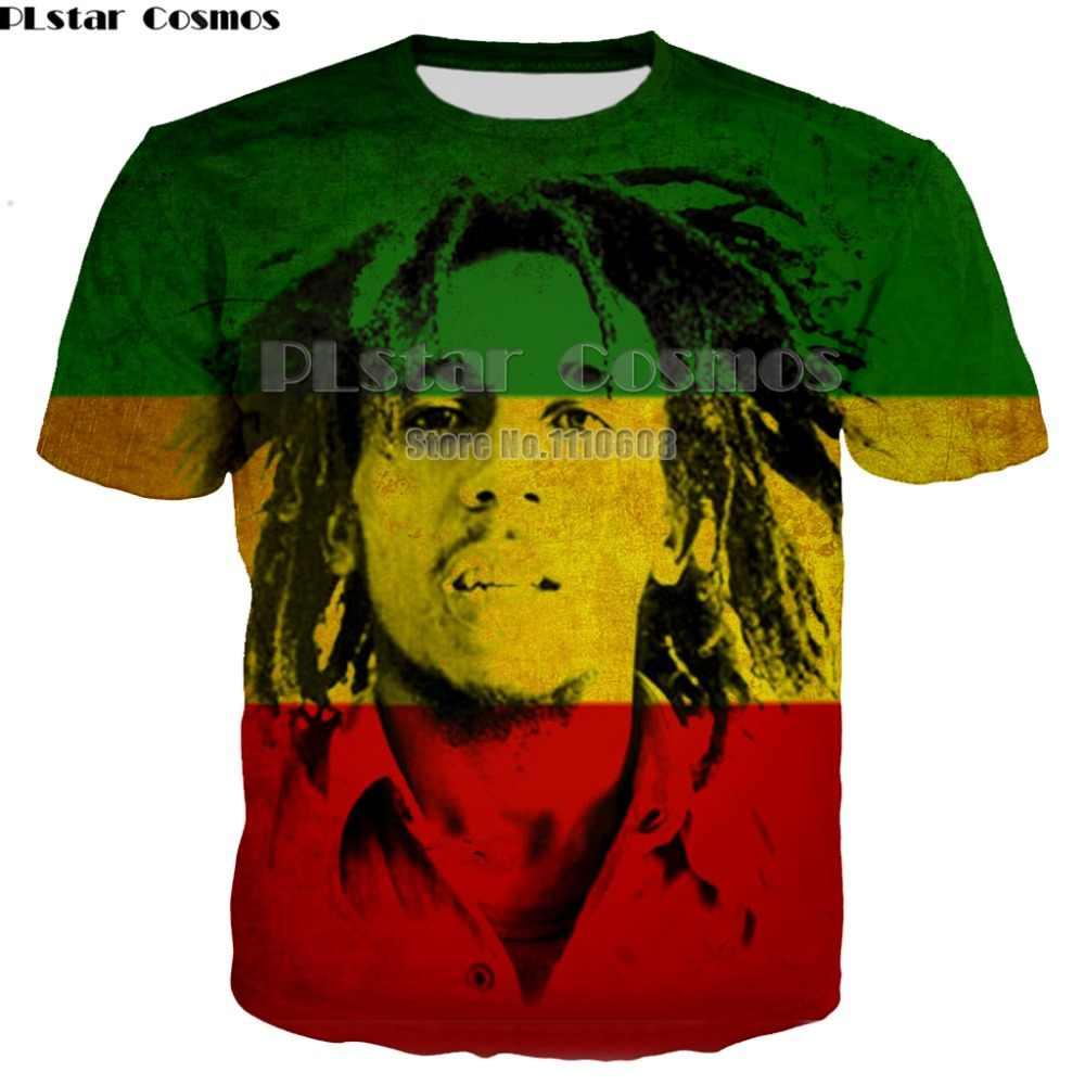 Neueste sommer Mode neue Hip hop T-shirts Reggae schöpfer Bob Marley 3d druck Männer Frauen casual Oansatz t shirt top 7XL
