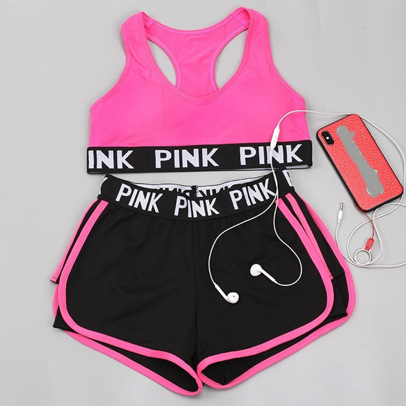 2019 New Gym Set Women Yoga Set  Women Workout Clothes Gym Wear Jogging Sport Set Women Fitness Clothing Conjunto Sport Mujer