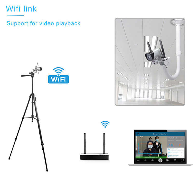 Wi-Fi, датчик температуры, батарея, сигнализация, распознавание лица, тепловая камера 1080P, камера обнаружения лихорадки