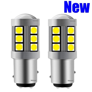 2pcs NEW 1157 P21/5W BAY15D High Quality 3030 LED Auto Tail Brake Light Car DRL Driving Lamp Turn Signals Bulb Amber Red White(China)