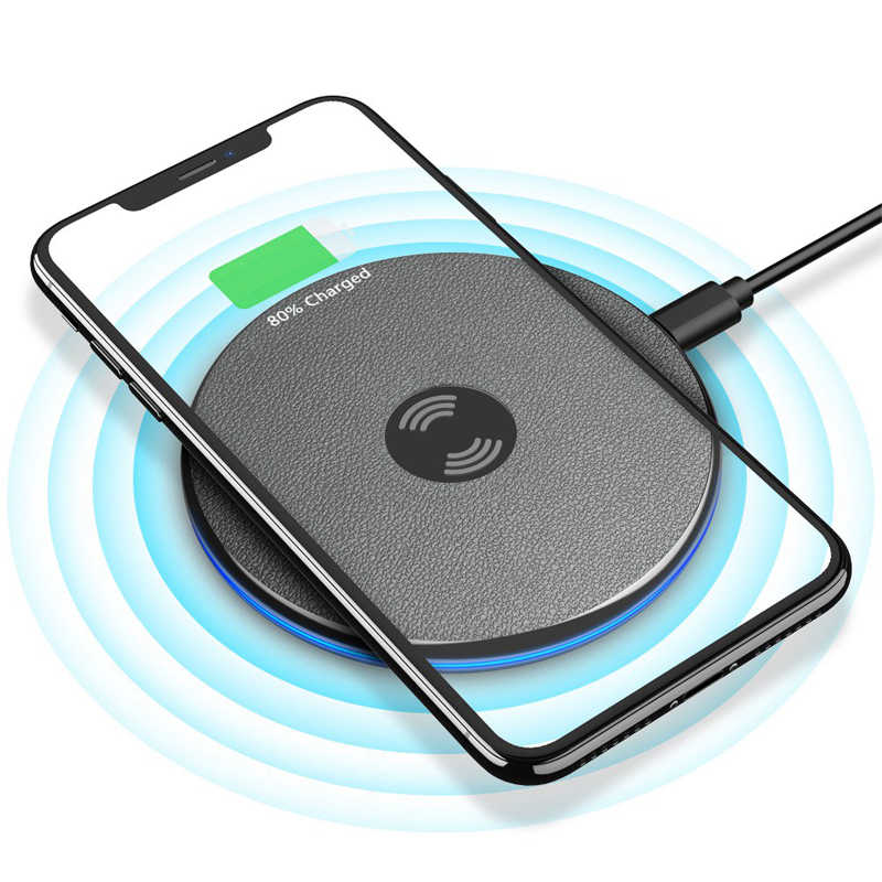 Wireless charger Qi Charging Pad for iPhone XS Max X 8 XR Samsung S10 S9 Note 9 Huawei P30 Pro Xiaomi Mi 9 Phone USB Charger