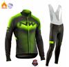 Strava equipe inverno velo térmico ciclismo roupas dos homens manga longa camisa terno equitação ao ar livre bicicleta mtb roupas bib calças conjunto 11