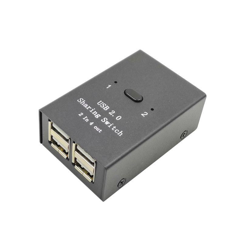 2 In 4 Out USB 2.0 Printer Switch Manual Button Separator Computer Mouse Keyboard U Disk Sharing Equipment USB PRINTER SWITCH