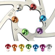 12 sztuk kolorowe rowerowy hamulec tarczowy Rotor Torx śruby T25 M5x10mm MTB rower stopu stali hamulec tarczowy śruby mocujące wirnika tanie tanio Hamulec tarczowy ciągnący linkę