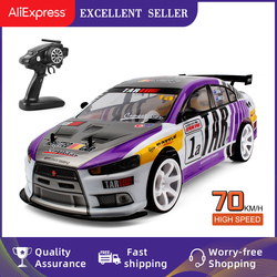 70KM/H High Speed RC Drifting Cars One-click Acceleration 1/10 4WD Remote Control Racing Cars Big Off-road Model toys for Kids