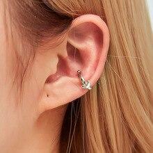 Hello Miss Simple Moon Ear clips literary cute single ear bone clip without pierced womens earrings jewelry