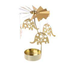 Вращающийся Поворотный чайный светильник с изображением снеговика, карусель, подсвечник, чайный светильник