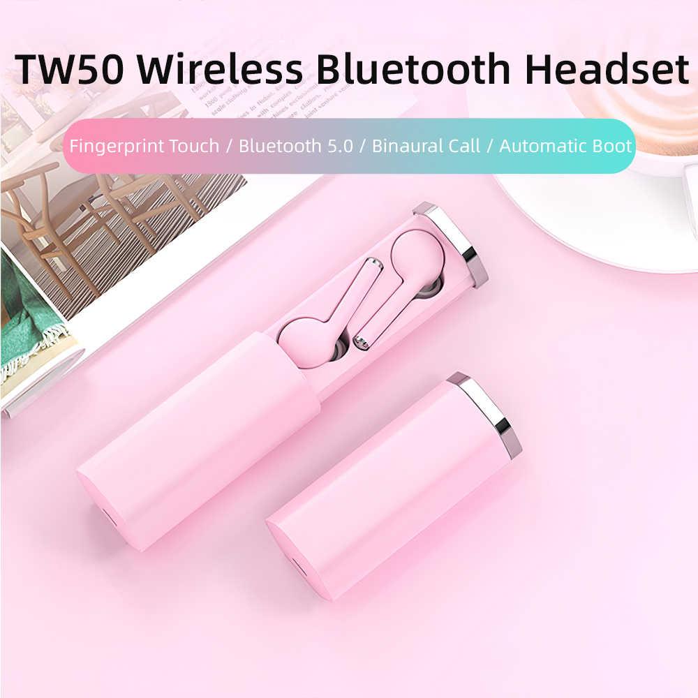 TW50 наушники вкладыши Беспроводные Bluetooth 5,0 шумоподавление игровая гарнитура Hi-Fi стерео гарнитура спортивный Микрофон супер бас для Xiaomi