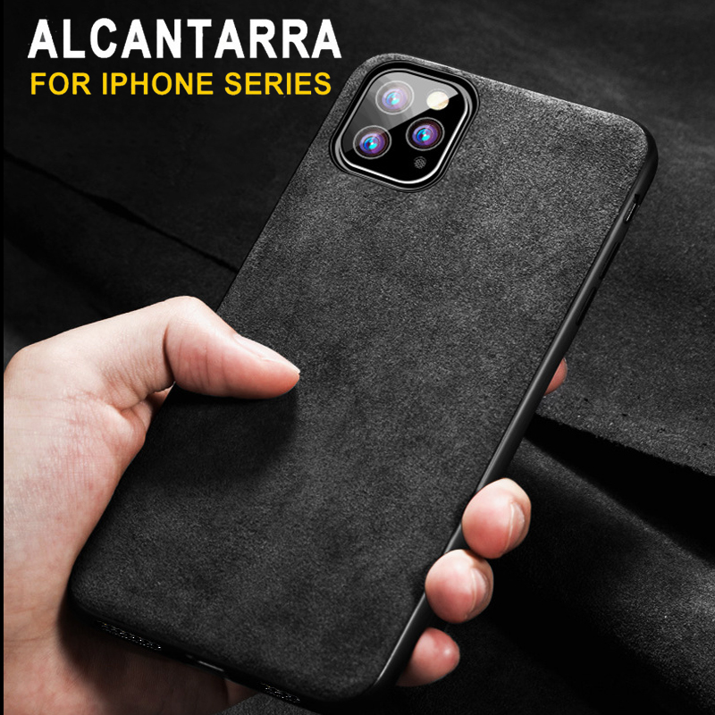 Luxury <font><b>Leather</b></font> Phone <font><b>Case</b></font> for <font><b>iPhone</b></font> 11 Pro Max Xs XR <font><b>6s</b></font> Plus 7 7Plus 8 8Plus iPhoneX iPhone11 Coque Silicon Car Logo Fur Cover image
