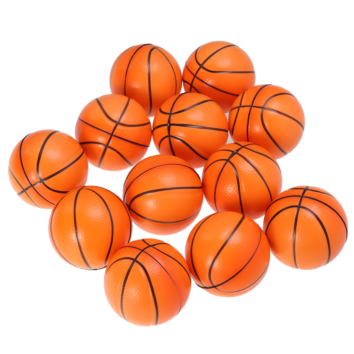 10PCS Mini Sport Balls Squeeze Foam Basketballs Stress Balls Stress Relief Toys For Kids Party Relaxation