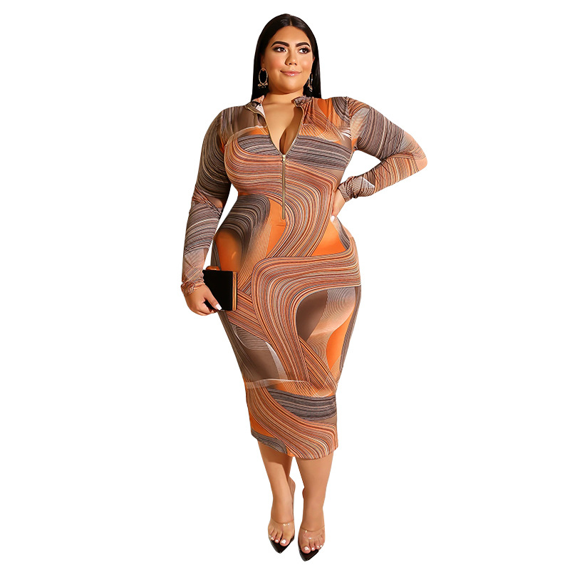 African Dresses For Women Large Size Print Long Sleeve Bodycon Party Night Maxi Dress 2020 Fashion Clothes