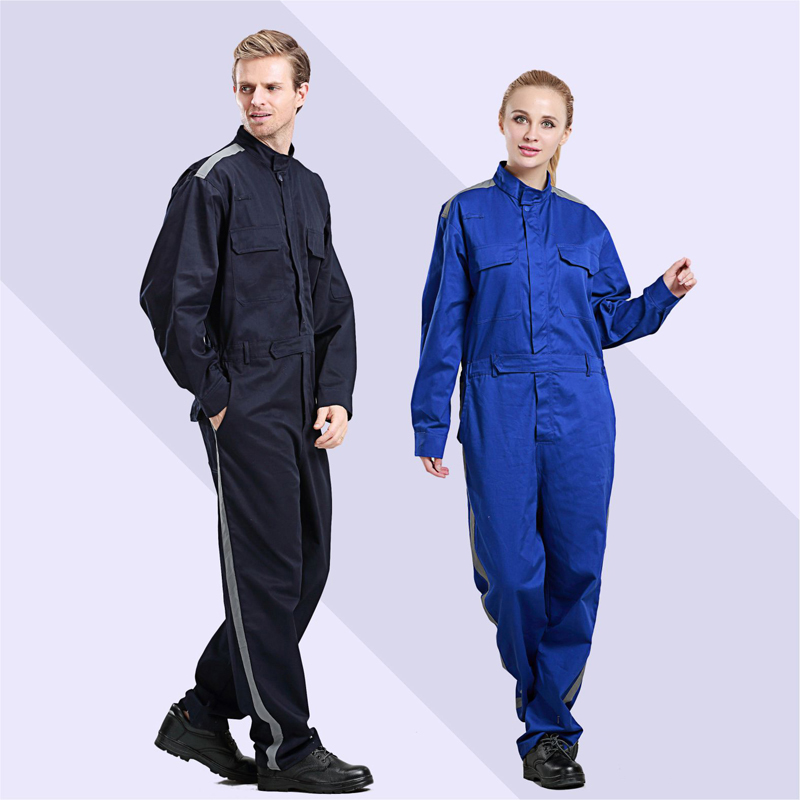 Workshop Overalls Men Women Protective Coverall Repairman Reflective Jumpsuits Working Uniforms Big Size Welding Safety Coverall
