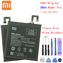 Xiao Mi Original Phone Battery BM4A for Xiaomi Hongmi Redmi Pro 4000mAh Replacement Batteries Retail Package Free Tools недорого