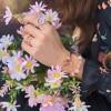 Danturn New 925 Sterling Silver Daisy Flower Crown Pink Wrapped Open Rings Original 925 Silver Women Rings Brand Jewelry Gift 6