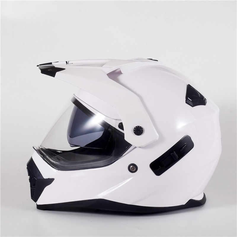 DOT Helmet Motorcycle Full Face Off-Road Dirt Bike ATV Gloss Black With Visor