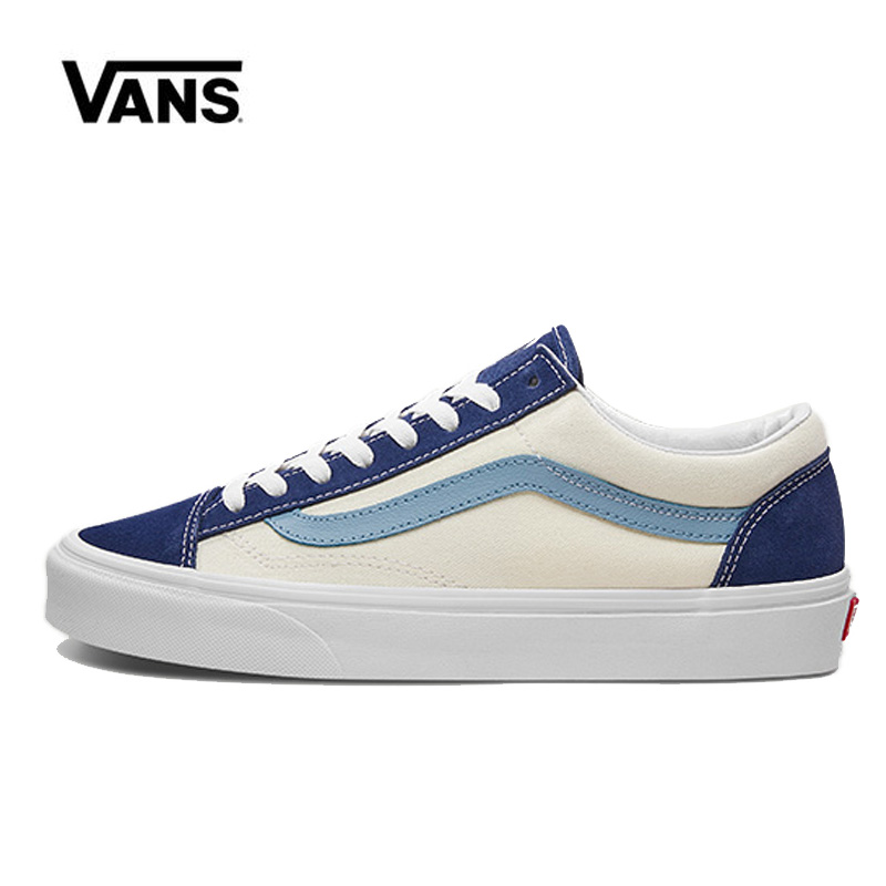 Vans Style 36 Shoes Blue Original Vans Low Shoes Men Women Sneakers Unisex Skateboarding Shoes VN0A3DZ3VY1