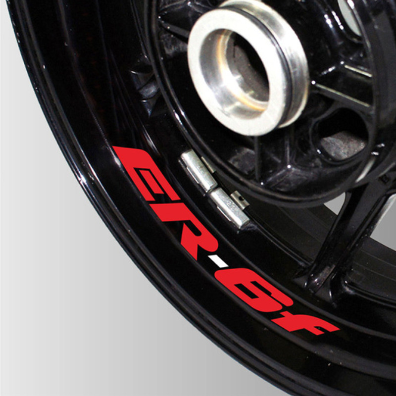 A Set Of 8pcs High Quality Motorcycle Wheel Sticker Decal Reflective Rim Motorcycle Logo Decal For Kawasaki Er6f ER-6F