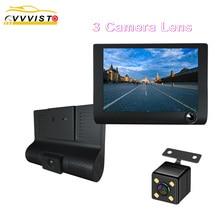 лучшая цена 2019 Video Recorders Dvr Dash Car Camera HD 1080P 3 Cameras Lens Rear View Camera Driving Recorder Registrator Car Dvr Dash Cam