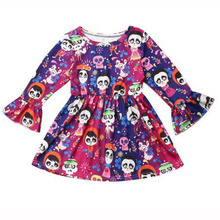 Little Girl Halloween Dress Baby Child Clothes Long Sleeve Skull Ghost Print Girls Costume Cute Flare 1-5 Years