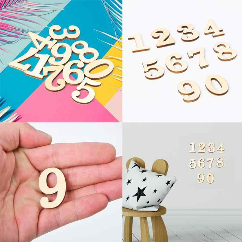 10pcs/Pack Wooden Digital Number Art Craft DIY Home Decoration Photography Props