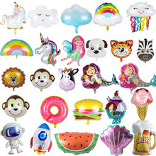 Cartoon Balloon Globos Party-Decoration Donut/mermaid-Shape for Children's Self-Sealing