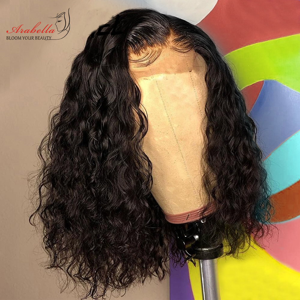 Water Wave Lace Front Bob Wig  Hair   Wigs  Closure Wig With Baby Hair Frontal Wig Bob 4