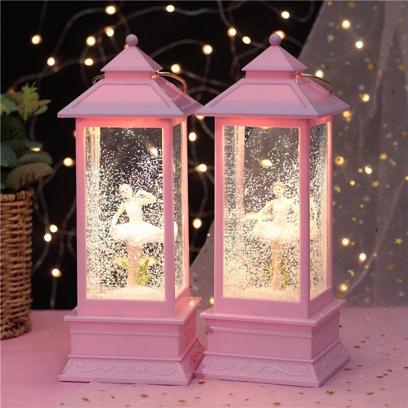 10.5 * 28cm Crystal Ball Music Box Girl Princess Lovely Decoration Wishing Wind Lantern Wedding Birthday Gift  Christmas Gift