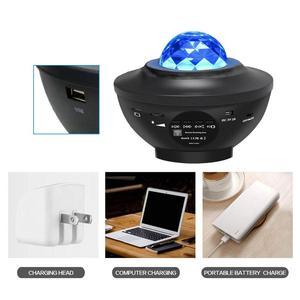 USB светодиодный Звездный ночник, музыка, звездная водная волна, цветной Звездный проектор неба, проектор с Blueteeth звуковой активацией, светил...