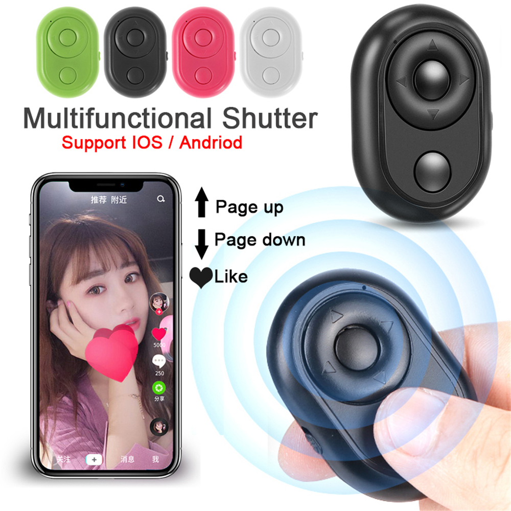 Fashion <font><b>Camera</b></font> Release Mini Button Wireless <font><b>Remote</b></font> Controller Bluetooth <font><b>Shutter</b></font> Control Selfie Stick For iPhone Android Samsung image