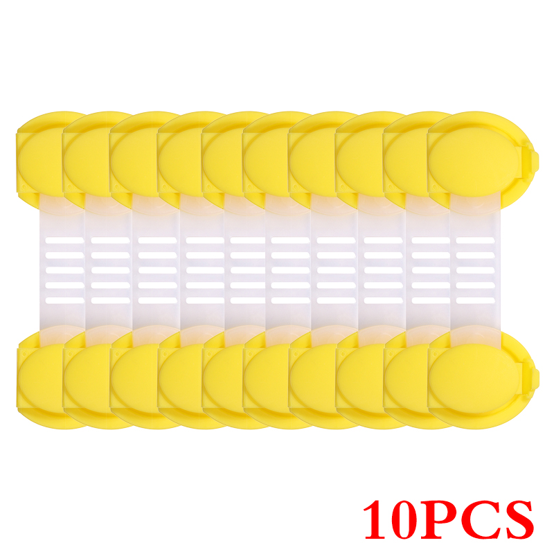 10 шт./лот защита от детей блокировка дверей для безопасности детей детский пластиковый замок Лучшие продажи - Цвет: Style2 Yellow 10cm