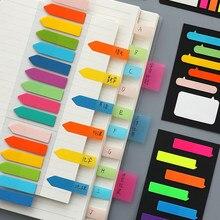 Notas Adhesivas fluorescentes, autoadhesivo, marcador de notas Post It, pegatina de recordatorio de papel, suministros escolares de oficina