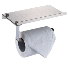 Paper Holders Bathroom Toilet Holder Tissue Hanger Stainless Steel Wall Mount Holder Mobile Phone Paper Towel Rack Silver